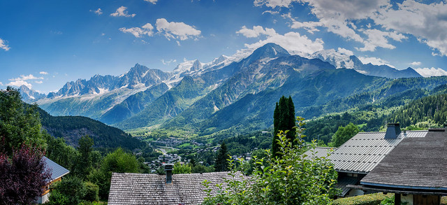 Panorama chaîne du Mont-blanc