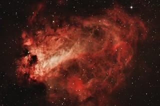 Swan Nebula (M17) in bicolour HOO