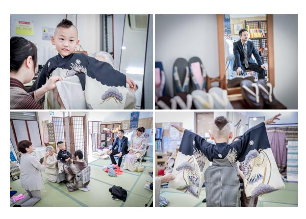 七五三 5歳の男の子の着物着付け 和装あつみ 愛知県瀬戸市