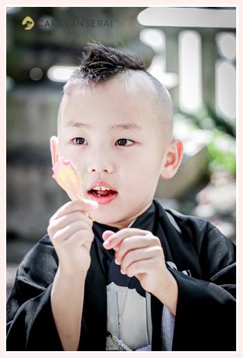 5歳の男の子の七五三 ヘアスタイル モヒカンスタイル