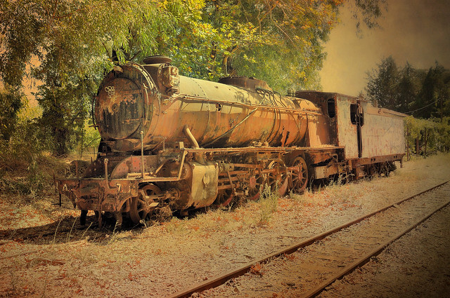 Old steamloc, Greece.