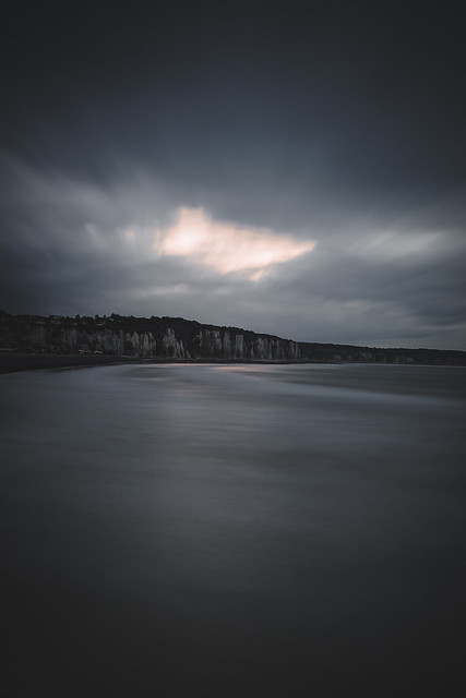 moody sunset in Normandie