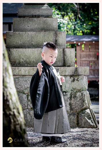 5歳の男の子の七五三 ヘアスタイル