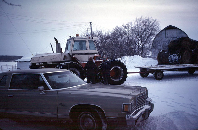 1975 Dodge Monaco  farmyard  near Barrhead    1984