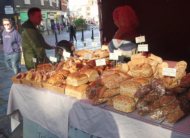 Stalls at October Makers Market in Preston