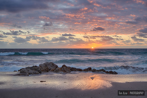 shoreline sand sunrise cloudy water canon6dmii florida hdr summer beach ocean timazar clouds rocks rocky deerfieldbeach landscape reflection waves