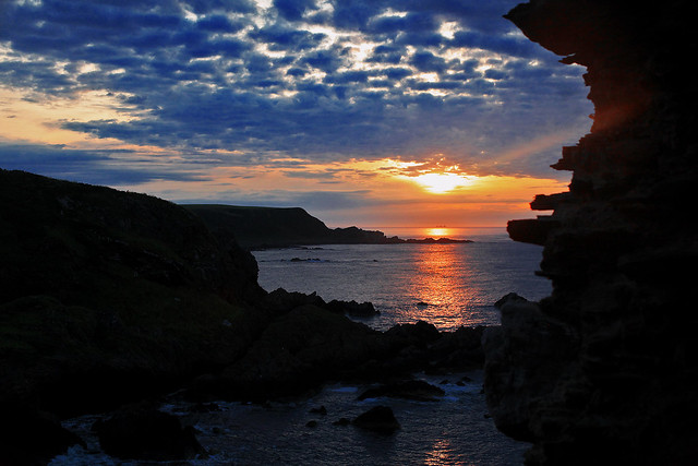 Sunset from Findlater Castle