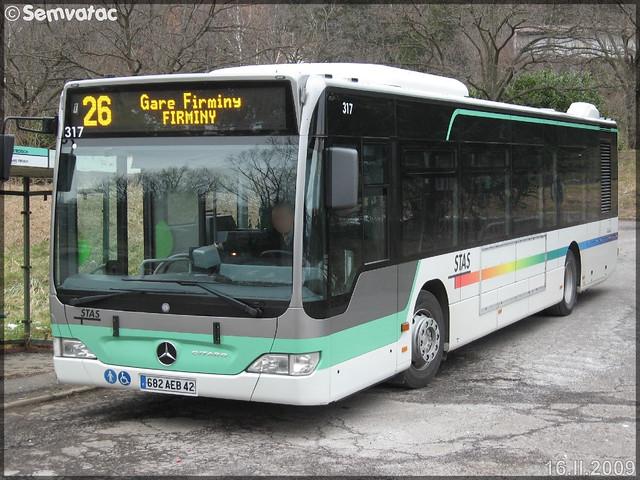 Mercedes-Benz Citaro – TPAS (Transports Publics de l'Agglomération Stéphanoise) (Veolia Transport) / STAS (Société de Transports de l'Agglomération Stéphanoise) n°317