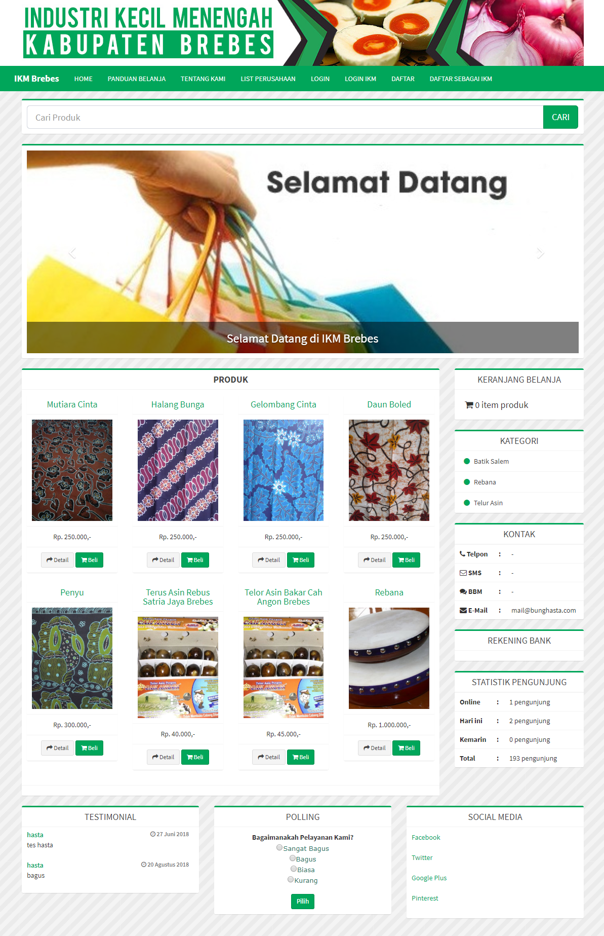 E-Commerce Industri Kecil Menengah (IKM) Brebes