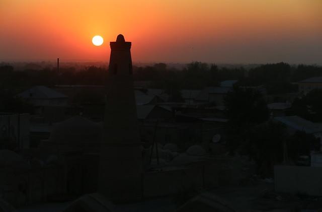Tramonto su Khiva