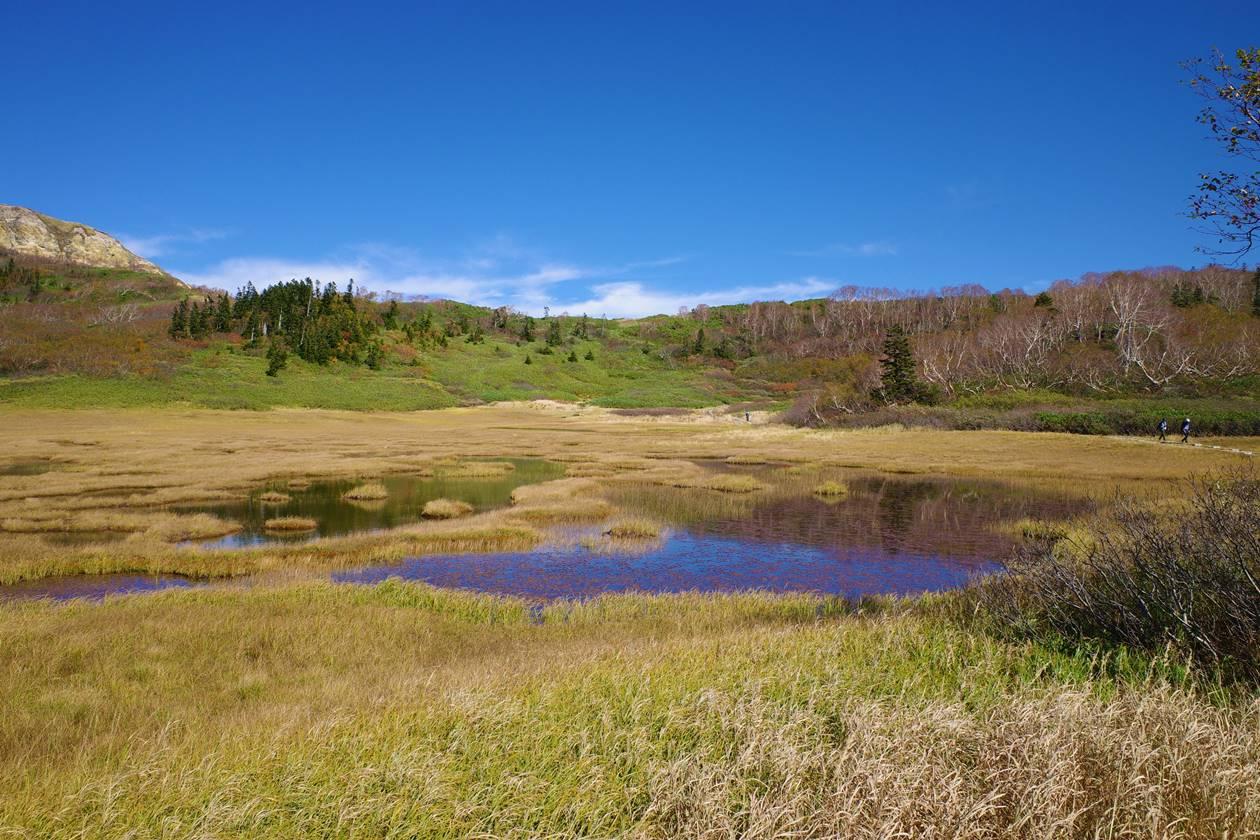 秋の火打山 天狗の庭の湿原と草紅葉