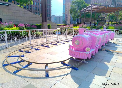 Amusement park at plaza of Uni-President Hankyu department store Taipei,SJKen , Oct, 2019