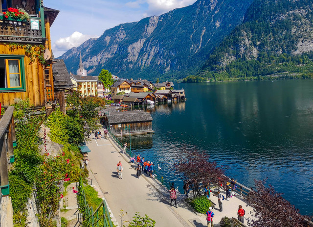 At Hallstatt. Where nature and heritage merge with their beauties.