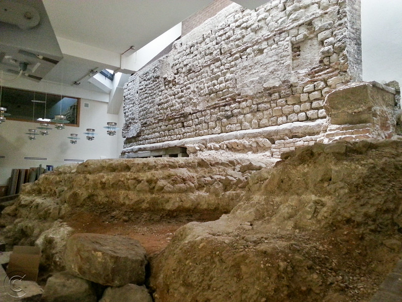 Roman Wall and Bastion in Emperor House