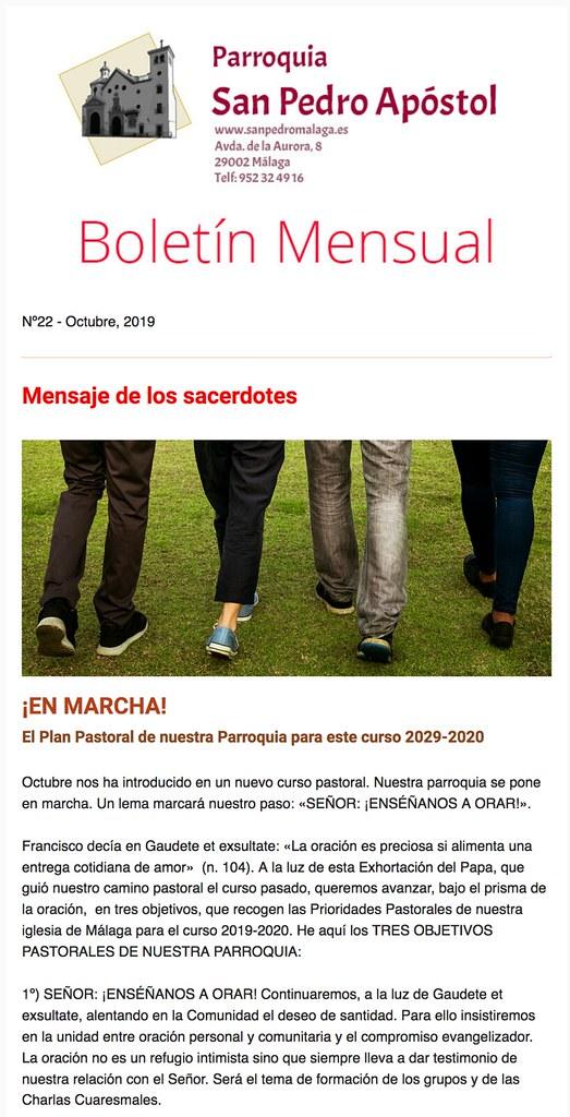 Boletín Parroquia San Pedro Málaga - Octubre
