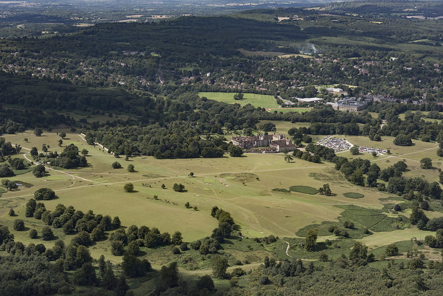 Knole country house & park - Kent UK aerial image