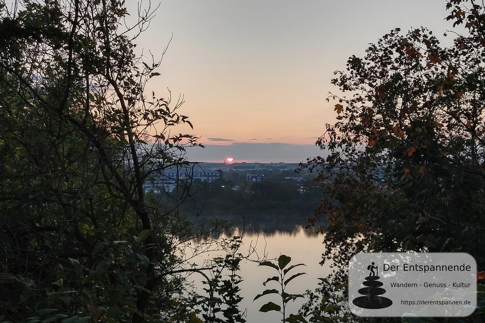Sonnenaufgang über dem Kreidebergsee