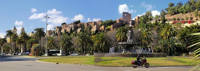 A beautiful fountain in the historical centre of Málaga