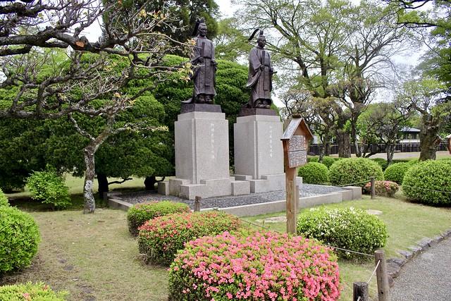 Suizenji Jojuen Garden statue