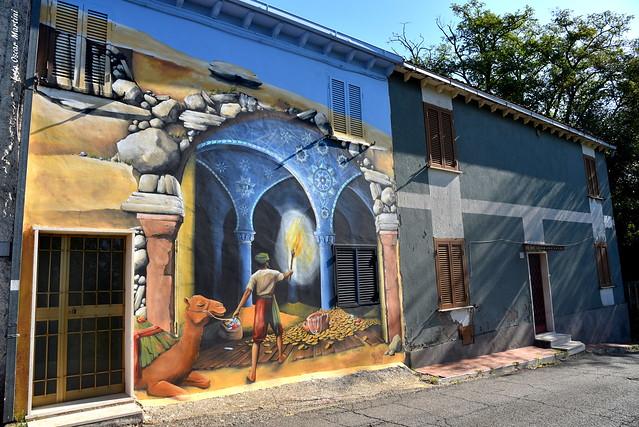 Sant'Angelo il paese delle fiabe, piccolo borgo del comune di Viterbo, fa sognare piccoli e grandi  con le sue opere murarie.