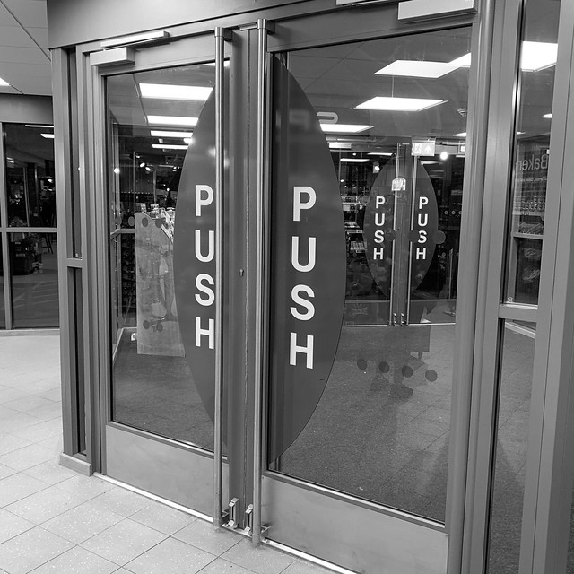 Push to exit