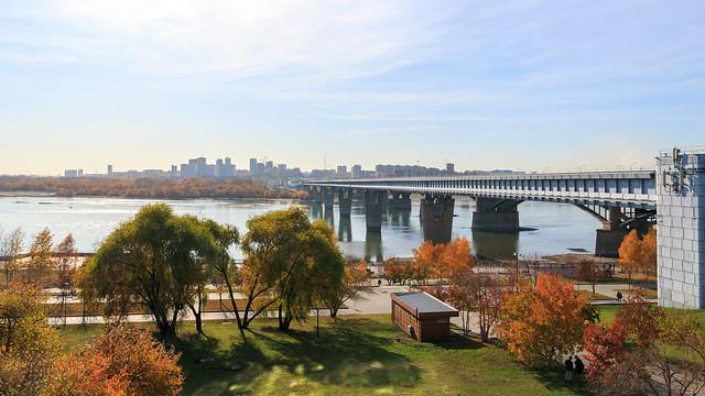 Novosibirsk city waterfront