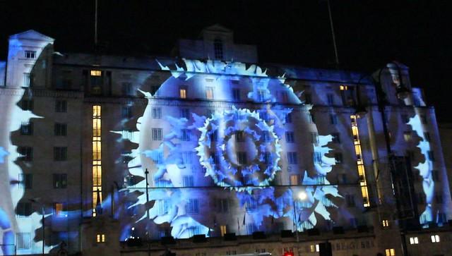 Light Night Leeds 2019 Queens Hotel, West Yorkshire, England, UK