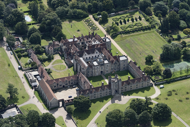 Knole National Trust country house & park - Kent UK aerial image
