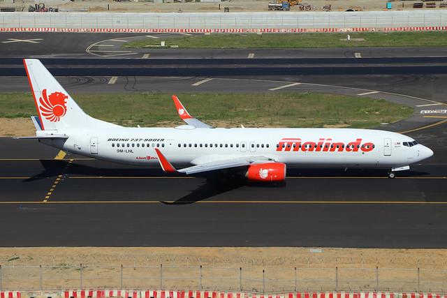 9M-LNL  -  Boeing 737-9GPER (WL)  -  Malindo Air  -  TPE/RCTP 11/10/19