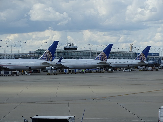 United 767s on the C Satellite