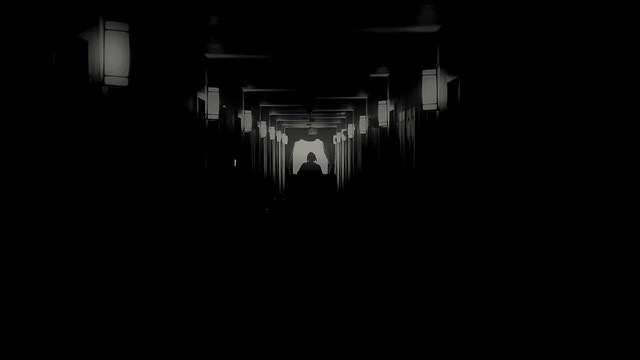 corridor obscured