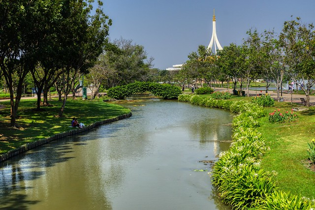Suan Luang Rama IX park in Bangkok, Thailand