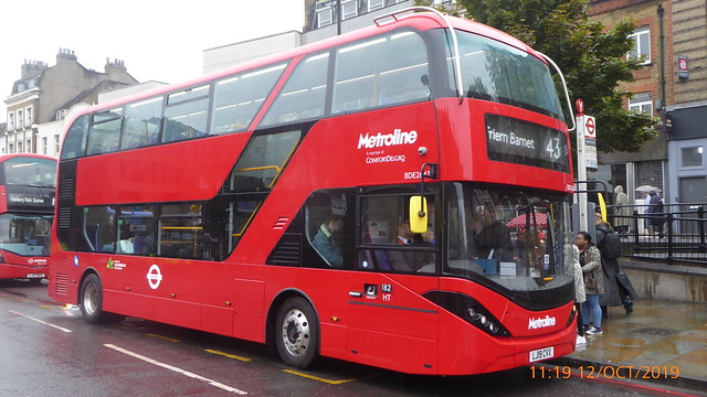 P1180194 BDE2647 LJ19 CVX at Angel Station Upper Street Islington London