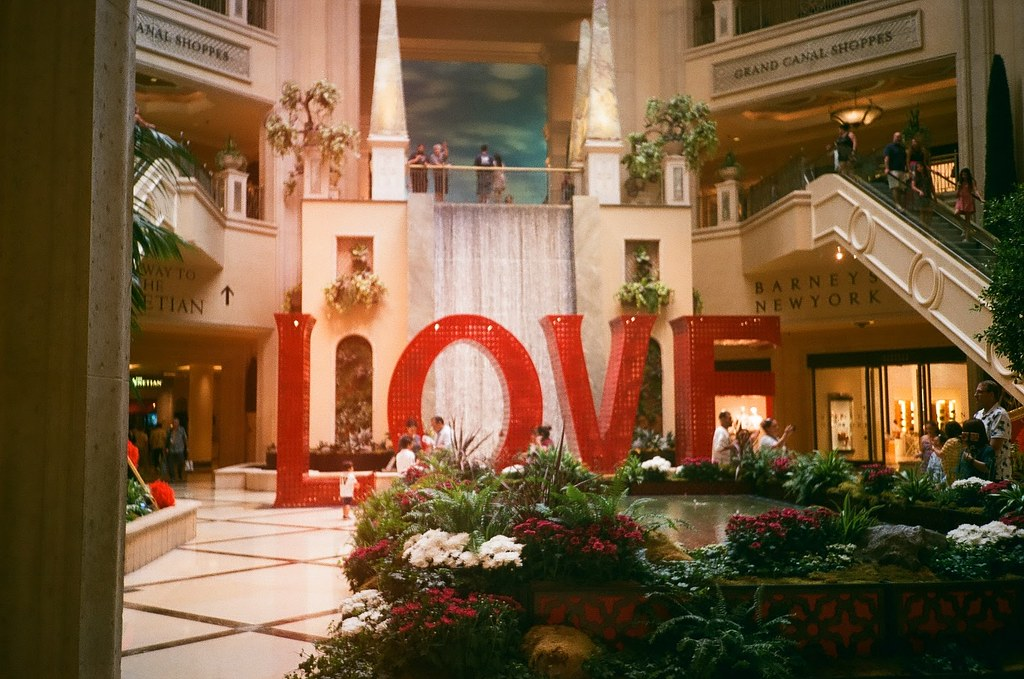 35mm film photo - LOVE letters sign in a Las Vegas hotel