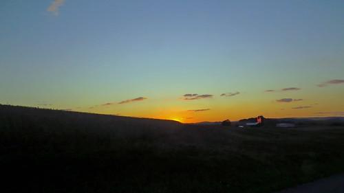sunset rural hilltop centralpennsylvania autumn