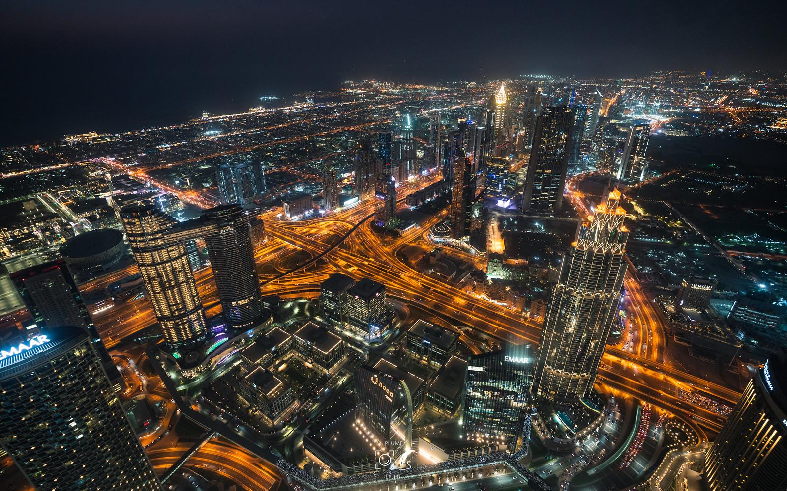 夜的笙歌|The scene on the most high tower : 哈里發|Dubai