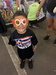 Maui Electric at the 97th Annual Maui Fair — Oct. 3, 2019: A keiki with his Maka, the Super Energy Saver, mask on!