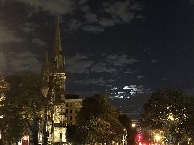Eve of St. Agnes: Ascension and St. Agnes Episcopal Church, moonlit clouds, Washington, D.C.