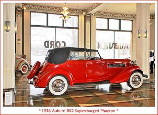 1936 Auburn 852 Supercharged Phaeton