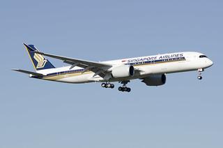 F-WZNA / 9V-SMZ - Airbus A350-941 - Singapore Airlines - msn 348