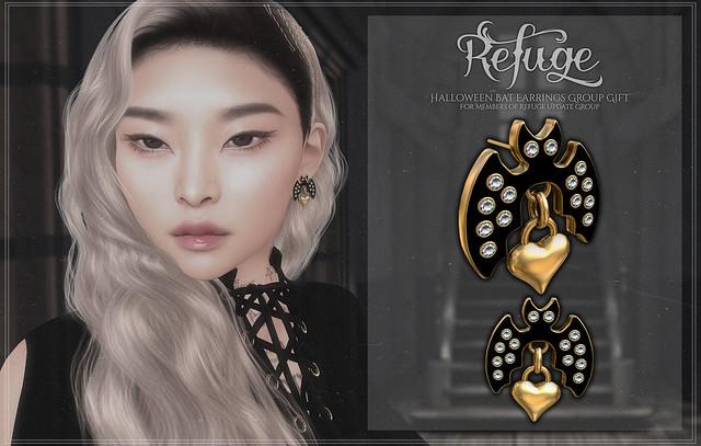 Refuge - Halloween Bat Earrings Group Gift Ad