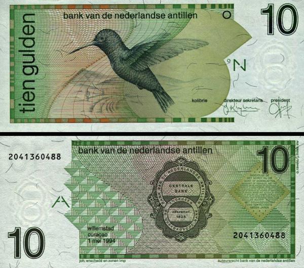 10 Guldenov Holandské Antily 1994, P23c