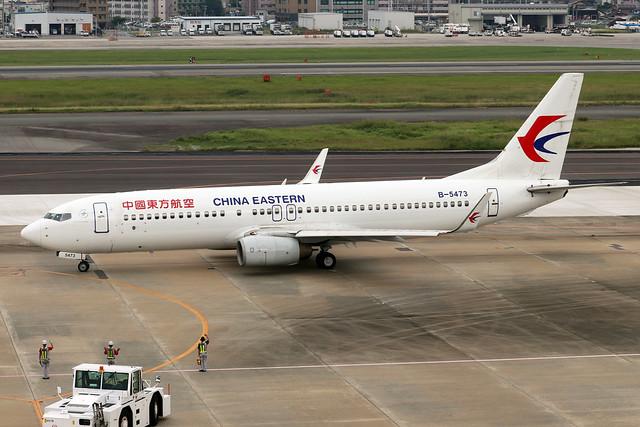 B-5473  -  Boeing 737-89P (WL)  -  China Eastern  -  FUK/RJFF 7/10/19