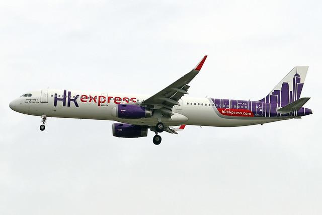 B-LEL  -  Airbus A321-231 (SL)  -  HongKong Express  -  ICN/RKSI 5/10/19