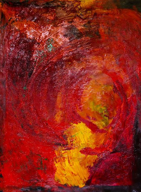 תמר גרגיר ציירת אמנית  מודרנית ישראלית עכשווית ציור אותנטי אינטואיטיבי אינטנסיבי קומפוזיציה מופשטת יצירתית צורות אבסטרקטיות tamar gargir