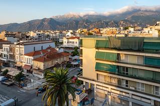 Ausblick vom Hotel Maniatis in Sparta