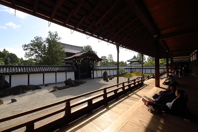 Relaxing at the zen garden