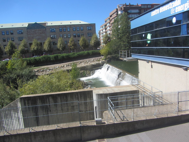 Artificial waterfall,  Demonstration Centre for Renewable  Energies, Leon