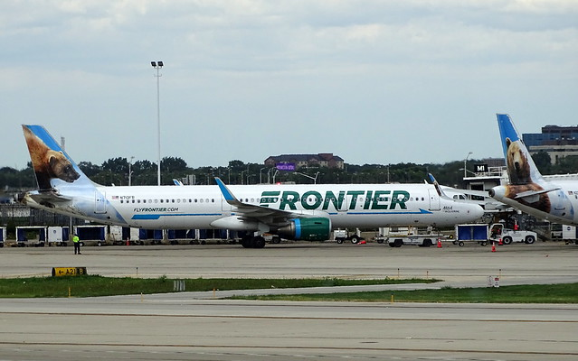 Frontier Airlines Airbus A321-211 N713FR 'Mitch the Wolverine'