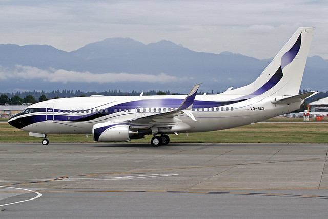 GAMA Aviation Boeing 737-7GV(BBJ) VQ-BLX YVR 07-09-19